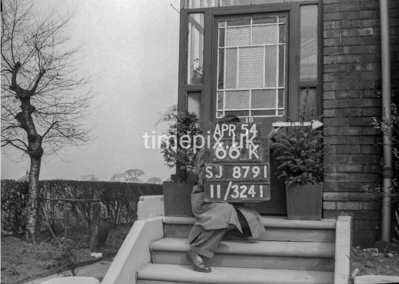 SJ879166K, Ordnance Survey Revision Point photograph in Greater Manchester