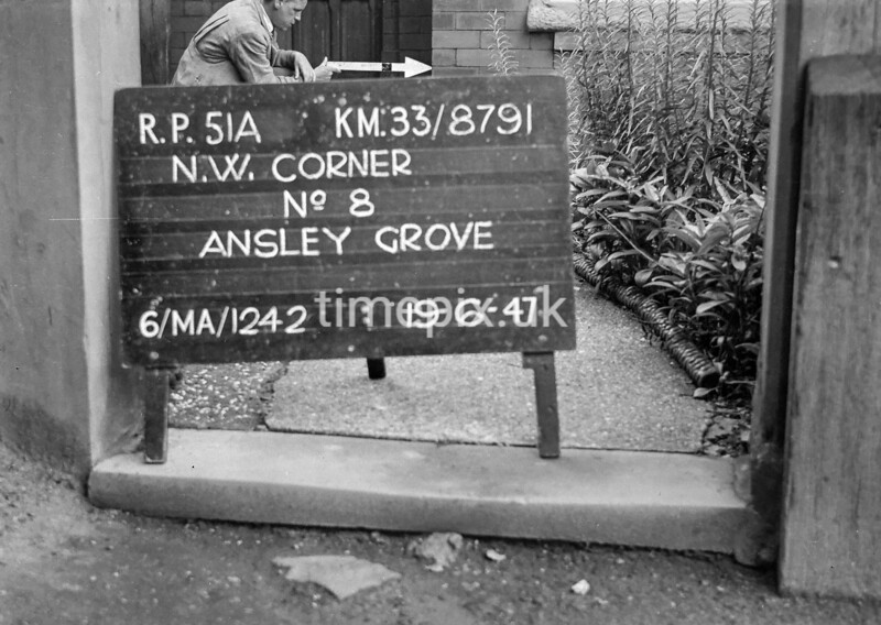 SJ879151A, Ordnance Survey Revision Point photograph in Greater Manchester