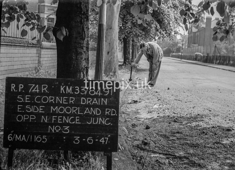 SJ849174R, Ordnance Survey Revision Point photograph in Greater Manchester