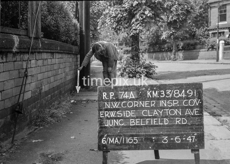 SJ849174A, Ordnance Survey Revision Point photograph in Greater Manchester