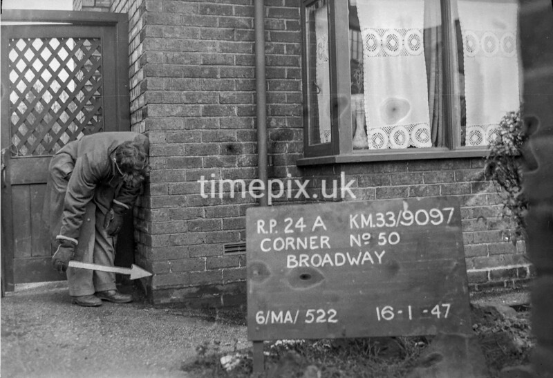 SJ909724A, Ordnance Survey Revision Point photograph in Greater Manchester