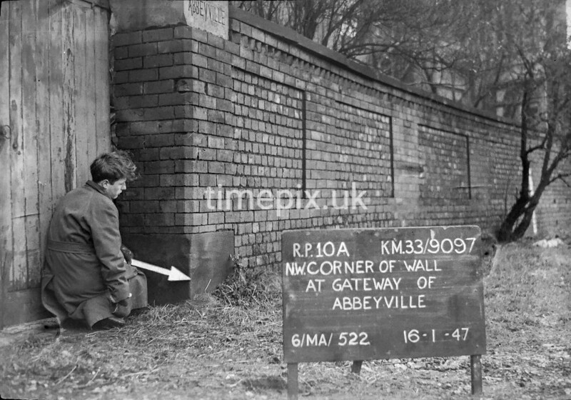 SJ909710A, Ordnance Survey Revision Point photograph in Greater Manchester