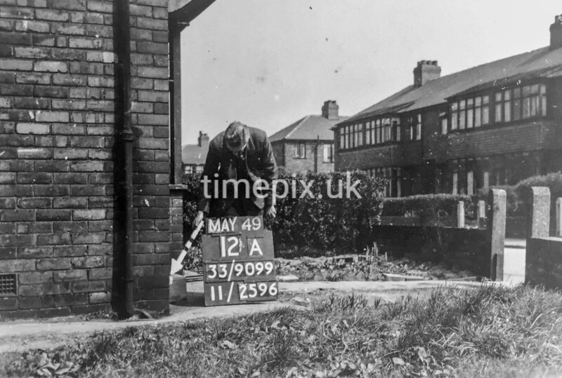 SJ909912A, Ordnance Survey Revision Point photograph in Greater Manchester