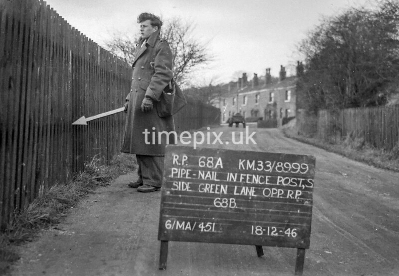SJ899968A, Ordnance Survey Revision Point photograph in Greater Manchester