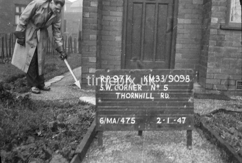 SJ909897K, Ordnance Survey Revision Point photograph in Greater Manchester