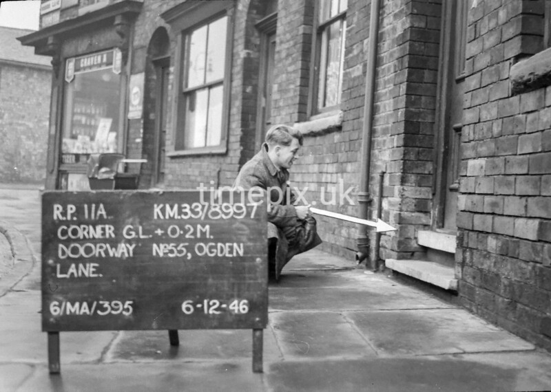 SJ899711A, Ordnance Survey Revision Point photograph in Greater Manchester