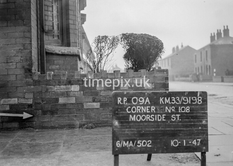 SJ919809A, Ordnance Survey Revision Point photograph in Greater Manchester