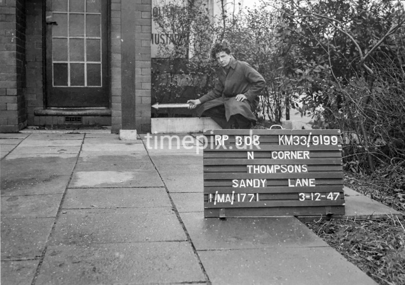 SJ919930B, Ordnance Survey Revision Point photograph in Greater Manchester