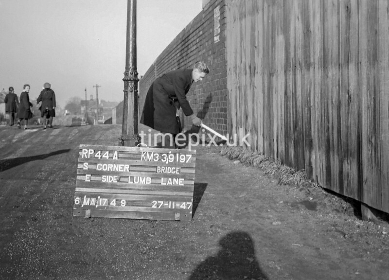 SJ919744A, Ordnance Survey Revision Point photograph in Greater Manchester
