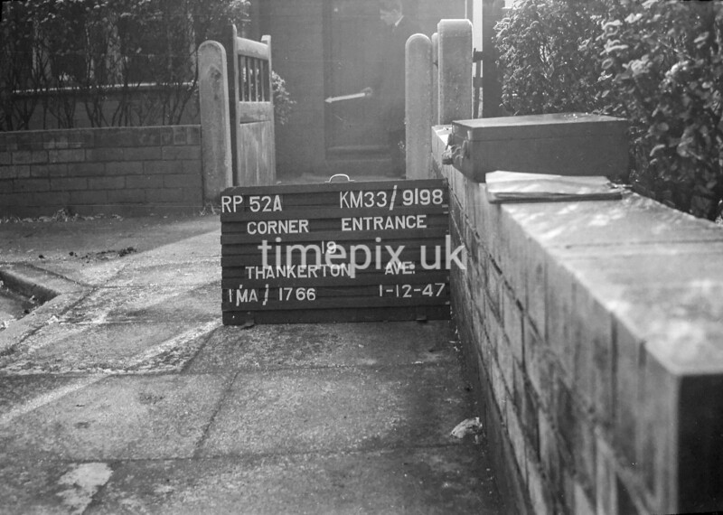 SJ919852A, Ordnance Survey Revision Point photograph in Greater Manchester