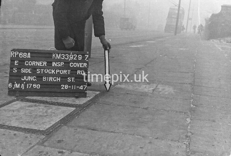 SJ929768A, Ordnance Survey Revision Point photograph in Greater Manchester