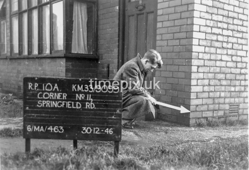 SJ909910A, Ordnance Survey Revision Point photograph in Greater Manchester