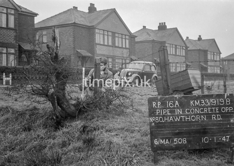 SJ919816A, Ordnance Survey Revision Point photograph in Greater Manchester