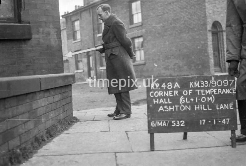SJ909748A, Ordnance Survey Revision Point photograph in Greater Manchester