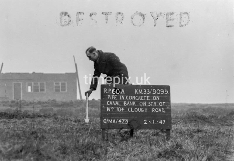 SJ909960A, Ordnance Survey Revision Point photograph in Greater Manchester