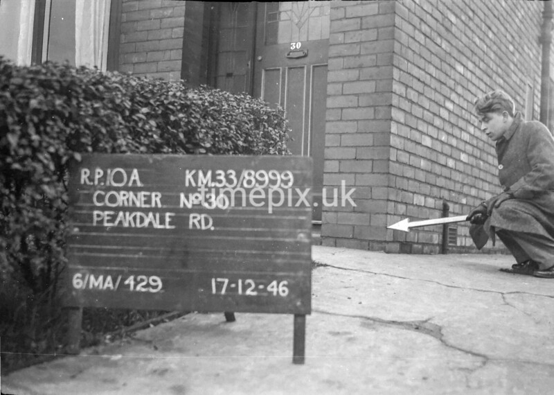 SJ899910A, Ordnance Survey Revision Point photograph in Greater Manchester