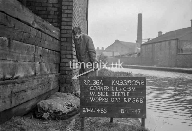 SJ909836A, Ordnance Survey Revision Point photograph in Greater Manchester