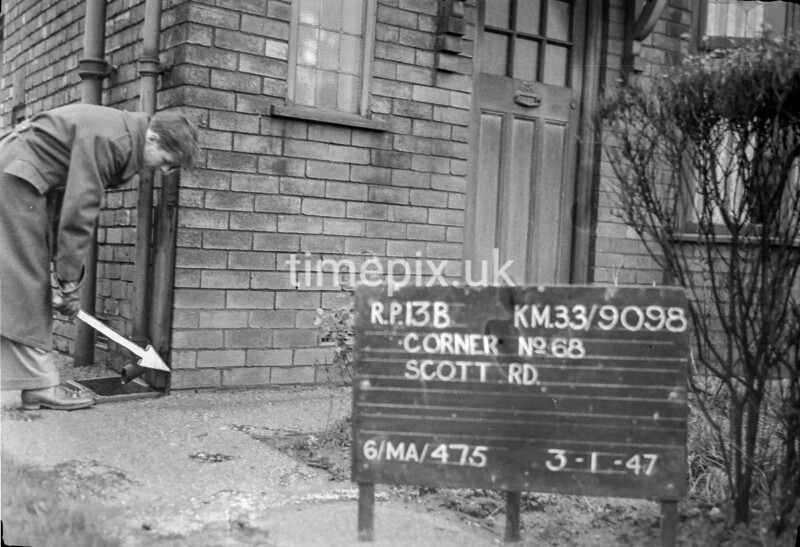 SJ909813B1, Ordnance Survey Revision Point photograph in Greater Manchester