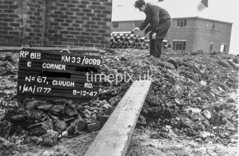SJ909961B, Ordnance Survey Revision Point photograph in Greater Manchester