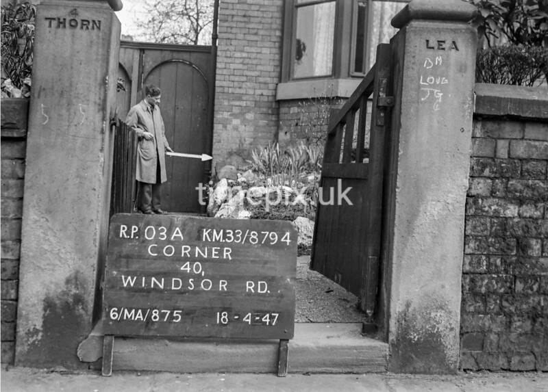 SJ879403A, Ordnance Survey Revision Point photograph in Greater Manchester