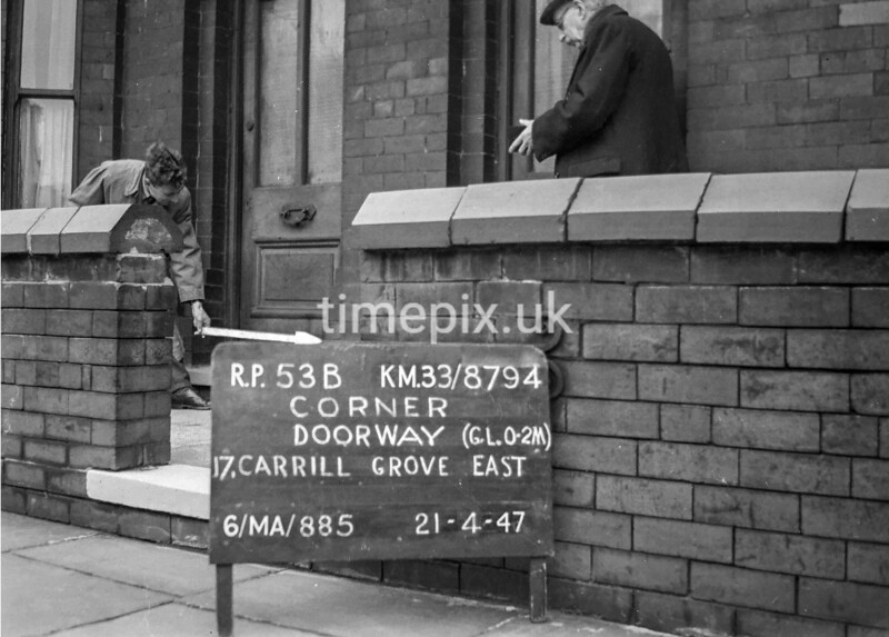 SJ879453B, Ordnance Survey Revision Point photograph in Greater Manchester
