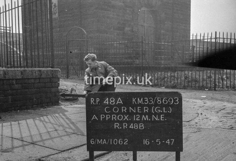 SJ869348A, Ordnance Survey Revision Point photograph in Greater Manchester