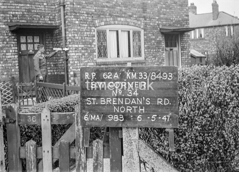 SJ849362A, Ordnance Survey Revision Point photograph in Greater Manchester