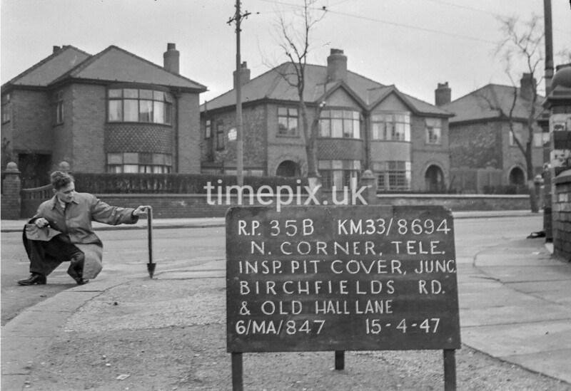 SJ869435B, Ordnance Survey Revision Point photograph in Greater Manchester