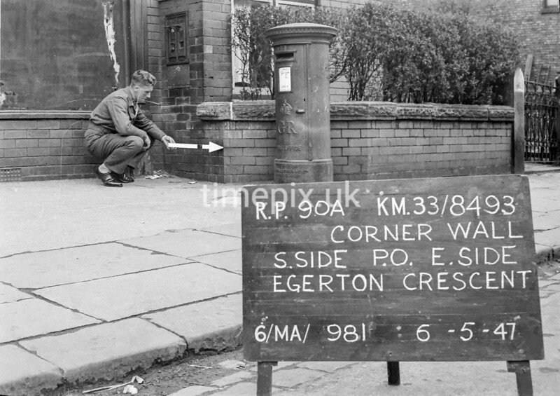 SJ849390A, Ordnance Survey Revision Point photograph in Greater Manchester
