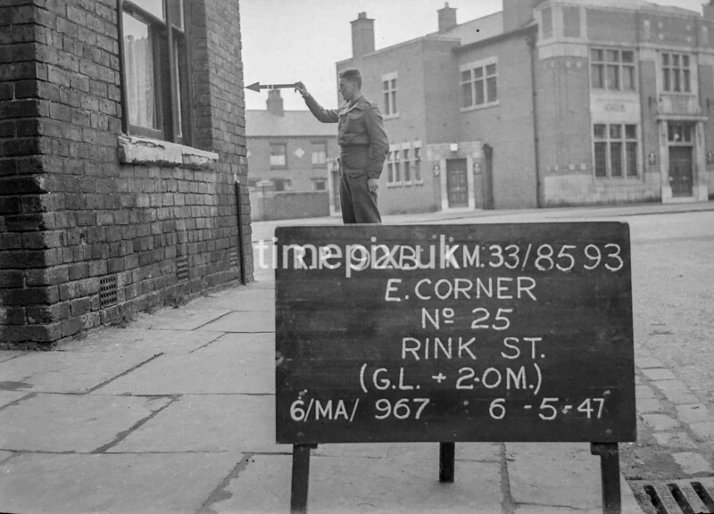 SJ859392B, Ordnance Survey Revision Point photograph in Greater Manchester