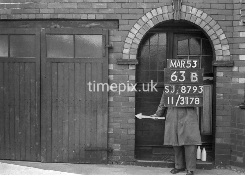 SJ879363B, Ordnance Survey Revision Point photograph in Greater Manchester
