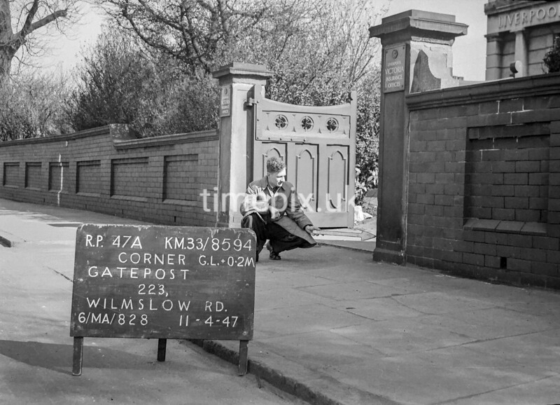 SJ859447A, Ordnance Survey Revision Point photograph in Greater Manchester
