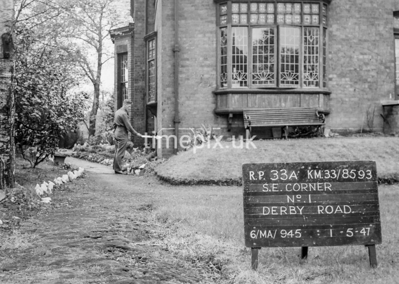 SJ859333A, Ordnance Survey Revision Point photograph in Greater Manchester