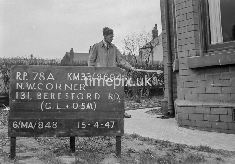SJ869478A, Ordnance Survey Revision Point photograph in Greater Manchester