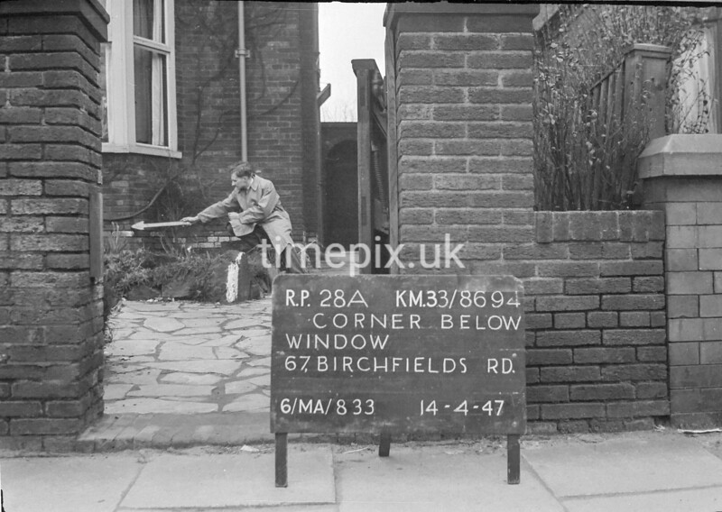 SJ869428A, Ordnance Survey Revision Point photograph in Greater Manchester