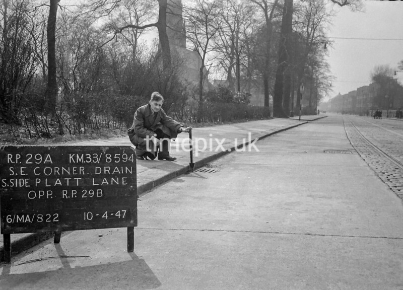 SJ859429A, Ordnance Survey Revision Point photograph in Greater Manchester