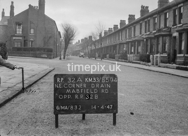 SJ859432A, Ordnance Survey Revision Point photograph in Greater Manchester