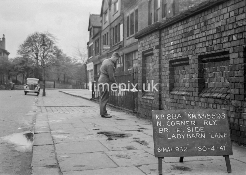 SJ859388A, Ordnance Survey Revision Point photograph in Greater Manchester