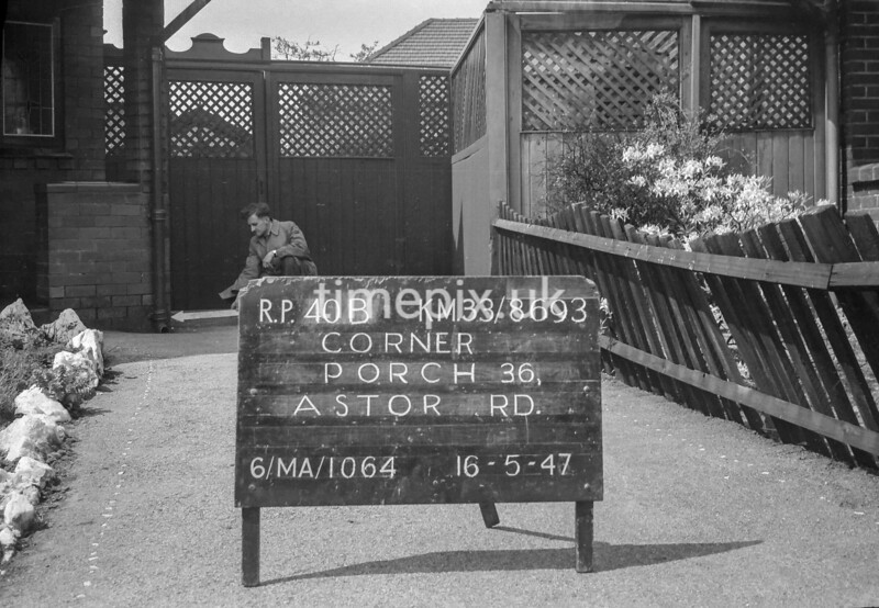 SJ869340B, Ordnance Survey Revision Point photograph in Greater Manchester