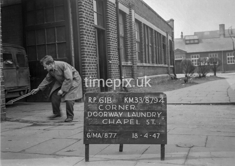 SJ879461B, Ordnance Survey Revision Point photograph in Greater Manchester