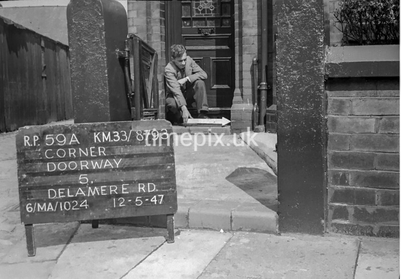 SJ879359A, Ordnance Survey Revision Point photograph in Greater Manchester
