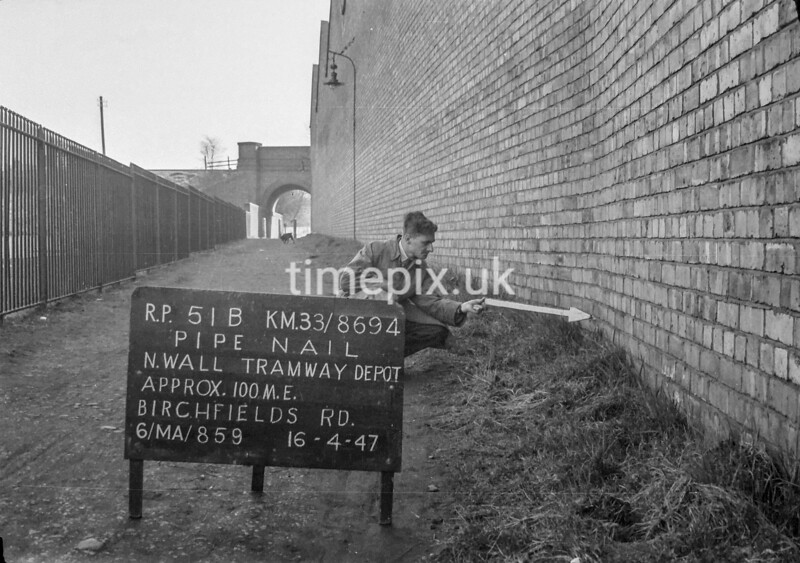 SJ869451B, Ordnance Survey Revision Point photograph in Greater Manchester