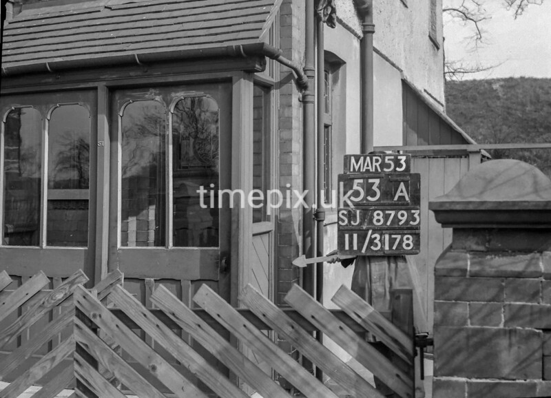 SJ879353A, Ordnance Survey Revision Point photograph in Greater Manchester