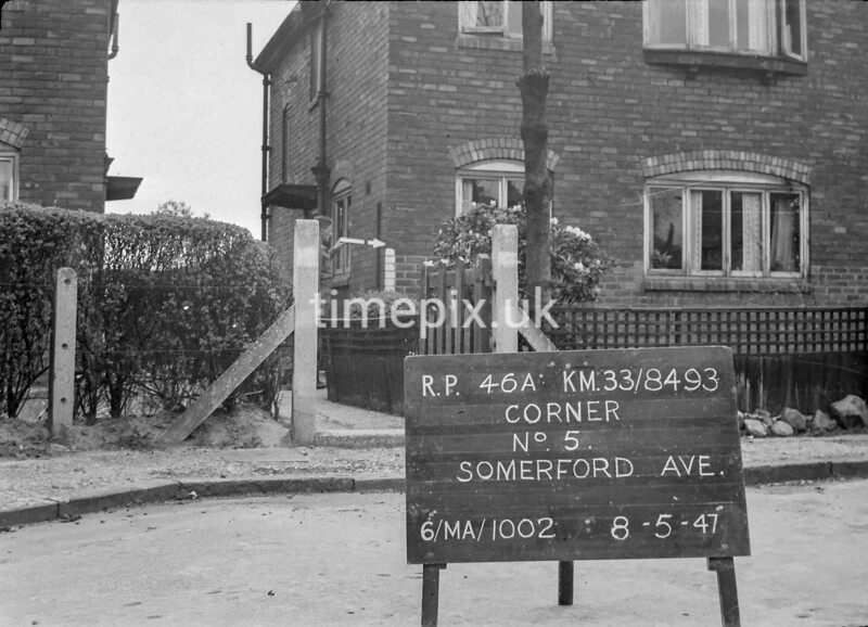 SJ849346A, Ordnance Survey Revision Point photograph in Greater Manchester