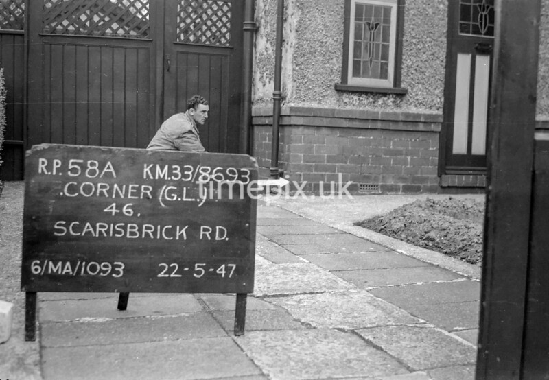 SJ869358A, Ordnance Survey Revision Point photograph in Greater Manchester