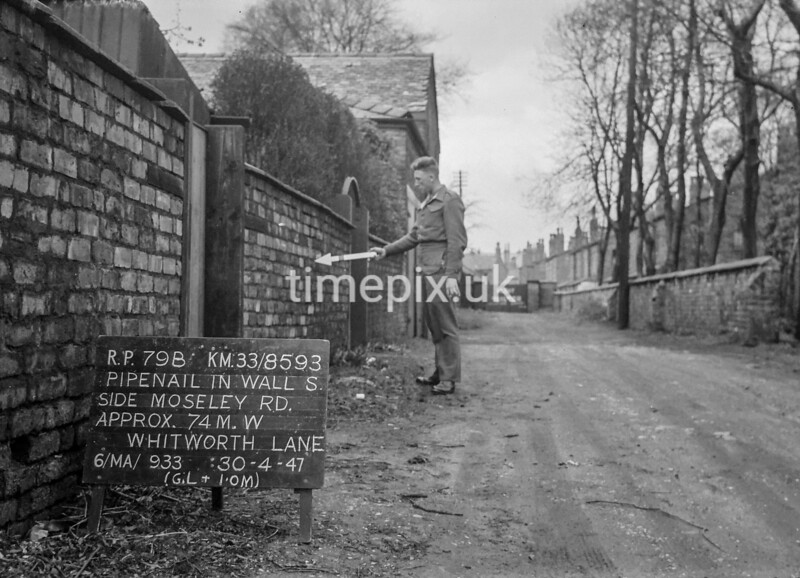 SJ859379B, Ordnance Survey Revision Point photograph in Greater Manchester