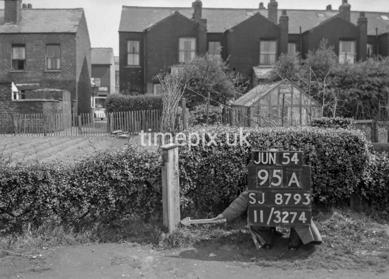 SJ879395A, Ordnance Survey Revision Point photograph in Greater Manchester