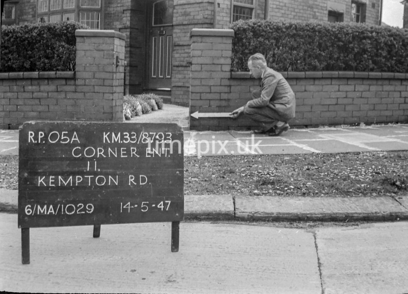 SJ879305A, Ordnance Survey Revision Point photograph in Greater Manchester