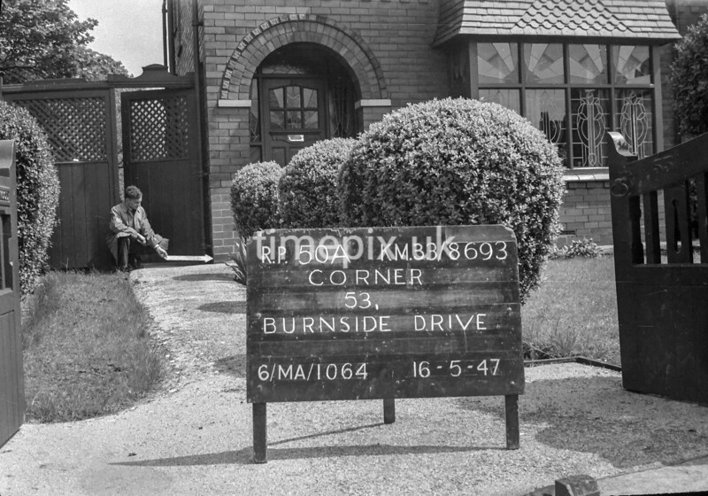 SJ869350A, Ordnance Survey Revision Point photograph in Greater Manchester