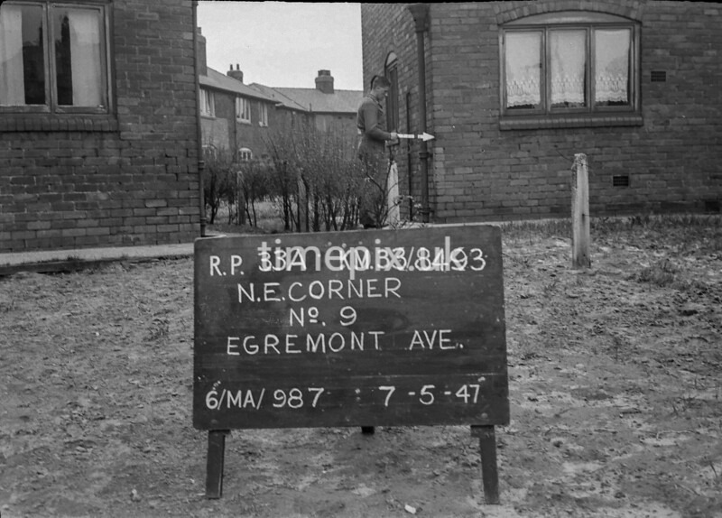 SJ849333A, Ordnance Survey Revision Point photograph in Greater Manchester